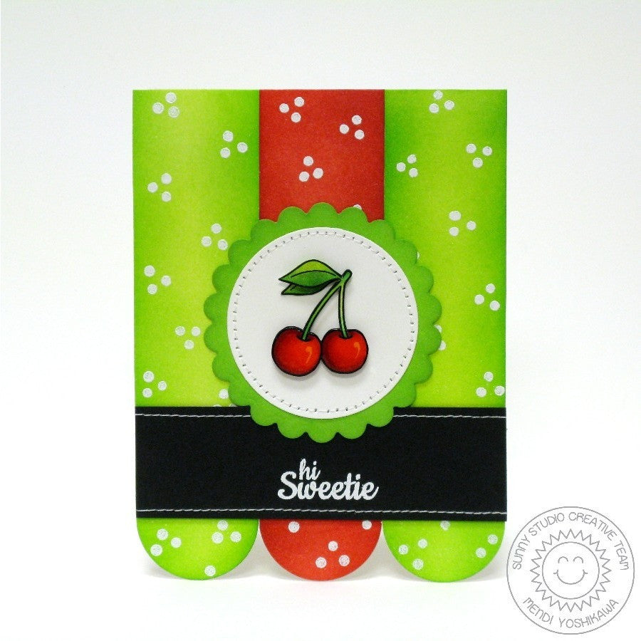 Sunny Studio Stamps Fresh & Fruity Hi Sweetie Cherry Cherries Card