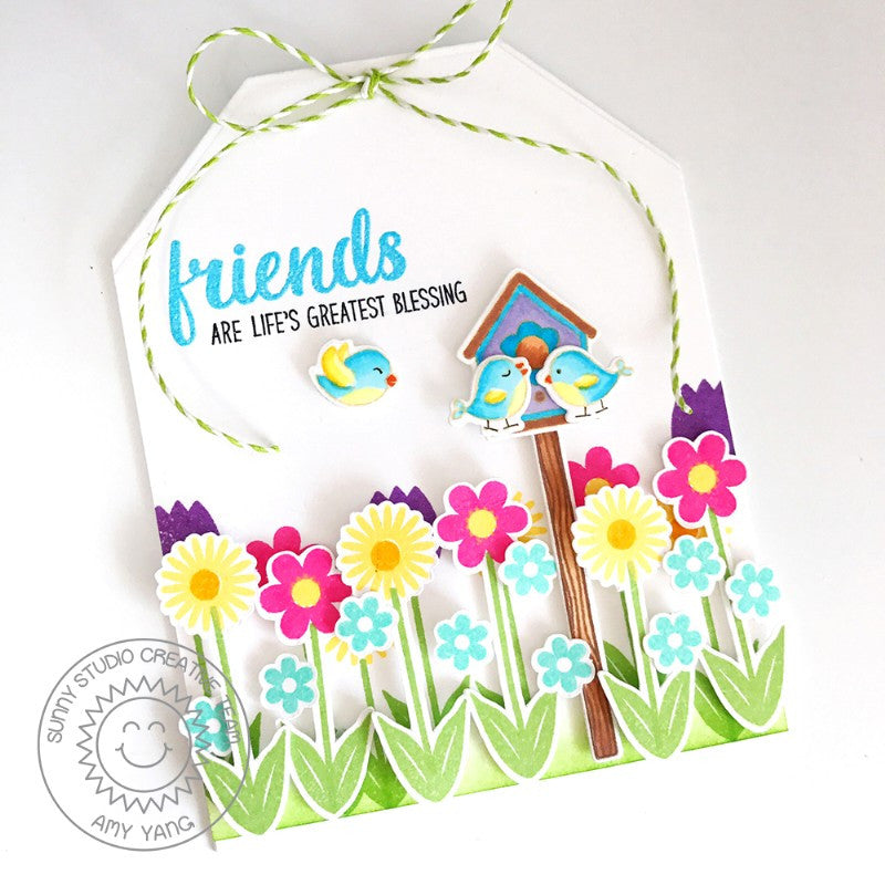 Sunny Studio Stamps Traditional Toppers Tag Shaped Card