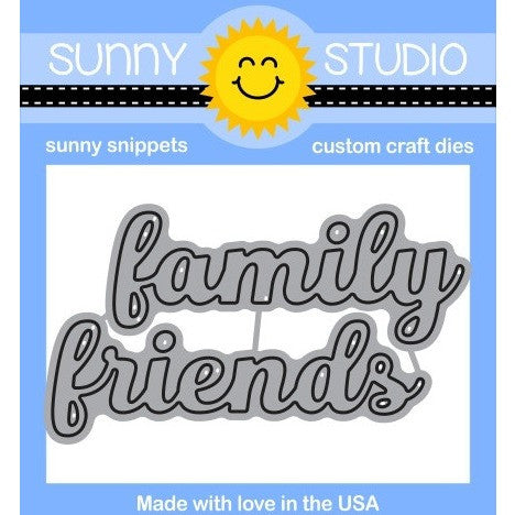 Sunny Studio Stamps Friends & Family Word Dies