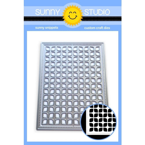 Sunny Studio Stamps Frilly Frames Retro Petals Stitched Rectangle Dies