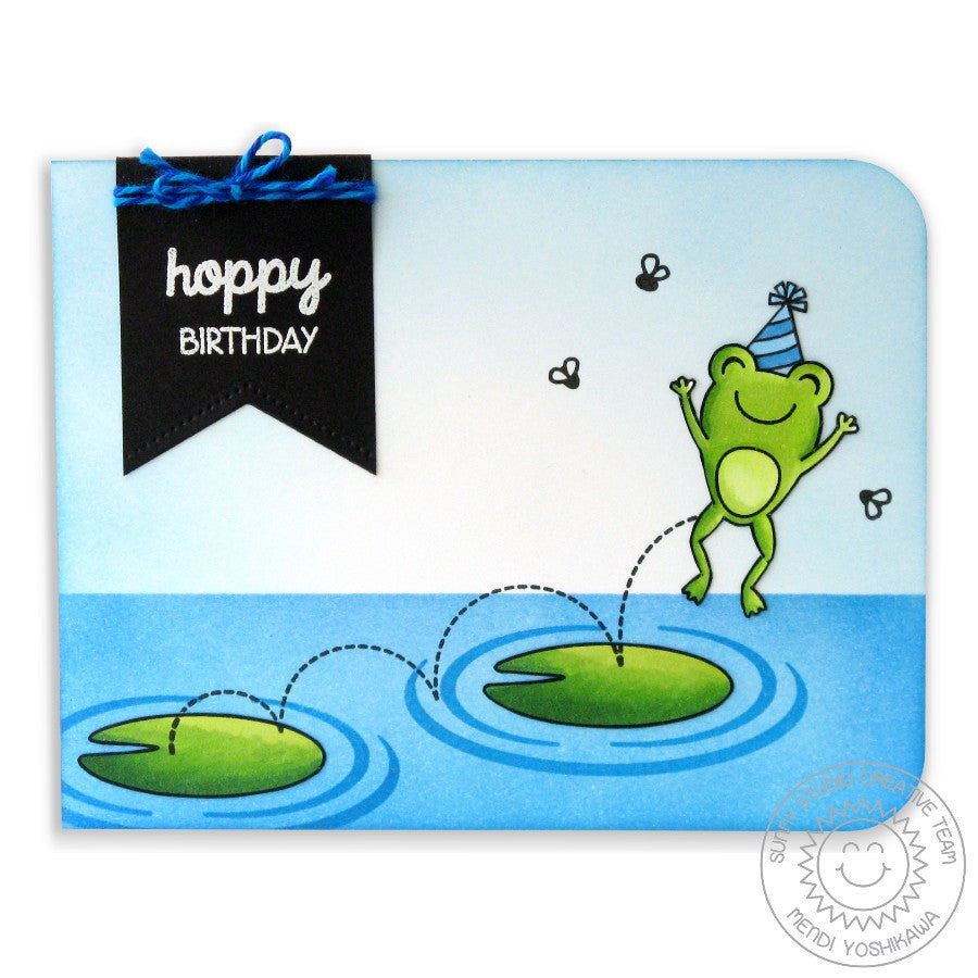 Sunny Studio Stamps Froggy Friends Hoppy Birthday Frog Card