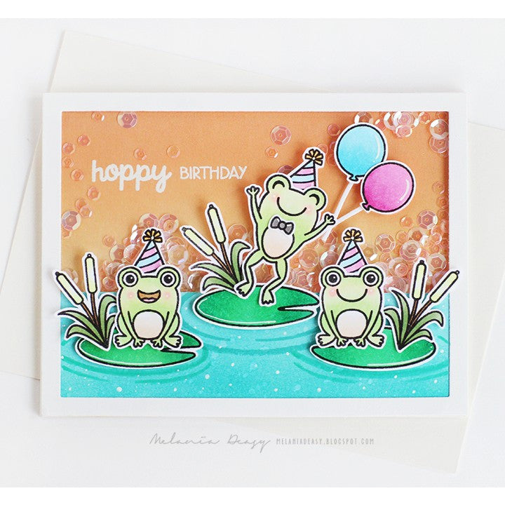 Sunny Studio Stamps Froggy Friends Hoppy Birthday Party Card