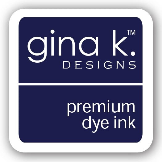 "Gina K. Designs GKD 1"" Mini Premium Dye Ink Cube - Blue Denim"