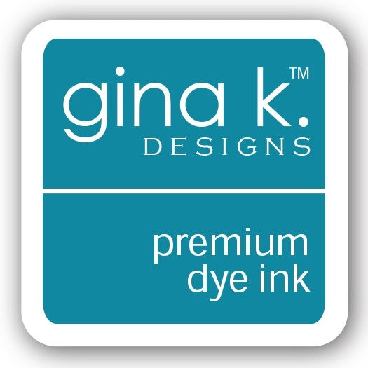"Gina K. Designs GKD 1"" Mini Premium Dye Ink Cube - Blue Lagoon"