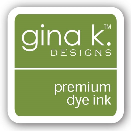 "Gina K. Designs GKD 1"" Mini Premium Dye Ink Cube - Grass Green"
