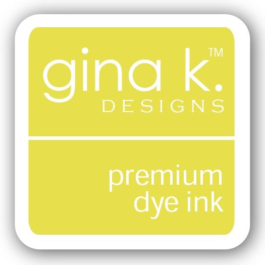 "Gina K. Designs GKD 1"" Mini Premium Dye Ink Cube - Lemon Drop"