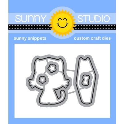 Sunny Studio Stamps Grad Cat Graduation Metal Cutting Dies
