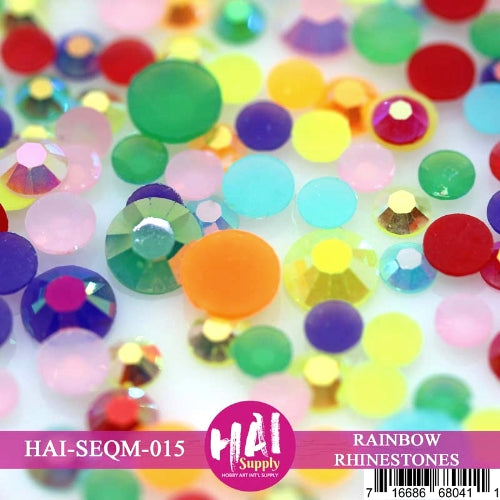 HAI Supply Rainbow Rhinestones Crystals Gems embellishments perfect for cards and scrapbooking