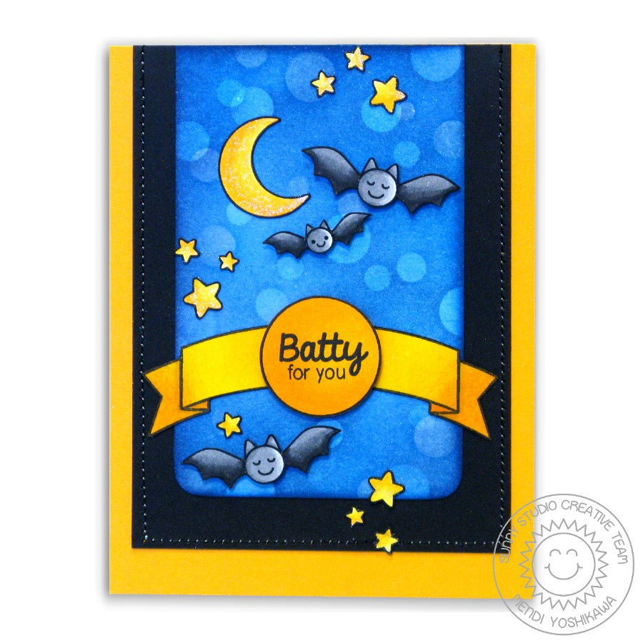 Sunny Studio Stamps Halloween Cuties Batty For You Card