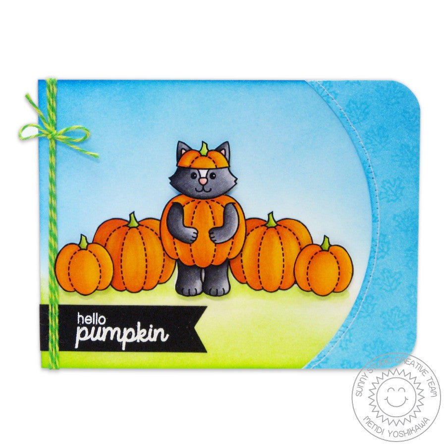 Sunny Studio Stamps Halloween Cuties Hello Pumpkin Fall card