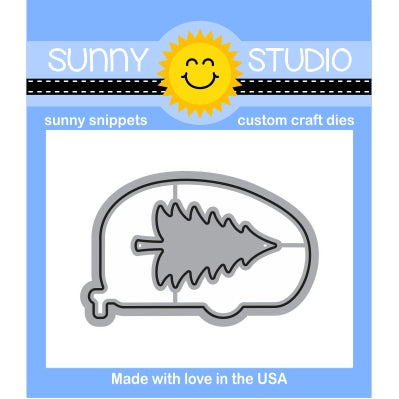 Sunny Studio Stamps Happy Camper Steel Rule Die Set