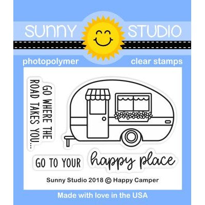 Sunny Studio Stamps Happy Camper 2x3 Clear Photopolymer Stamp Set
