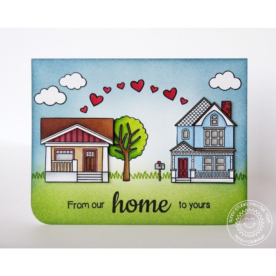 Sunny Studio Stamps Happy Home From Our Home To Yours Card