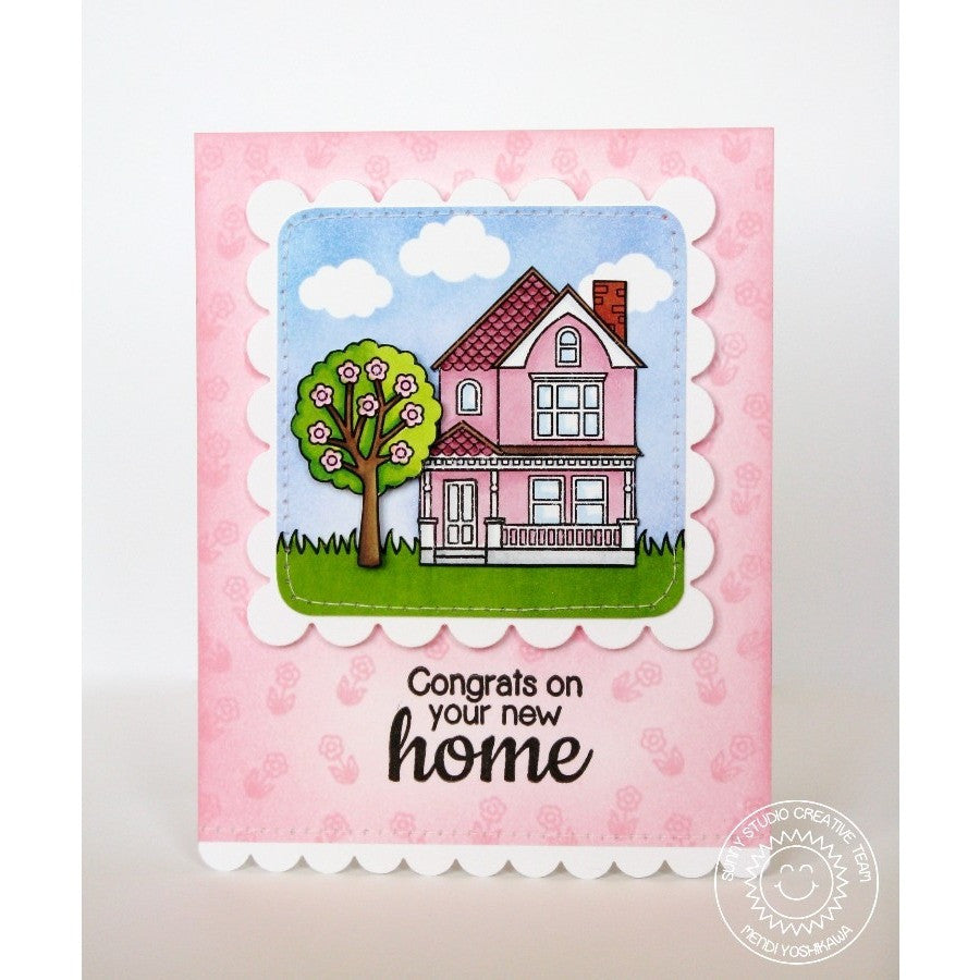 Sunny Studio Stamps Happy Home Congrats On Your New House Victorian Card
