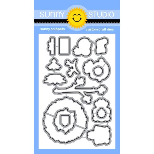 Sunny Studio Stamps Happy Owlidays Christmas Owl Metal Cutting Dies