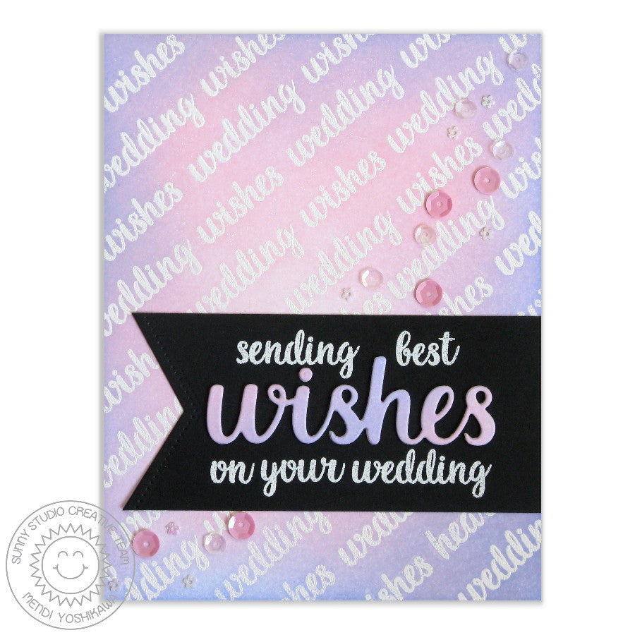 Heartfelt Wishes Wedding Card using Wishes Word Die