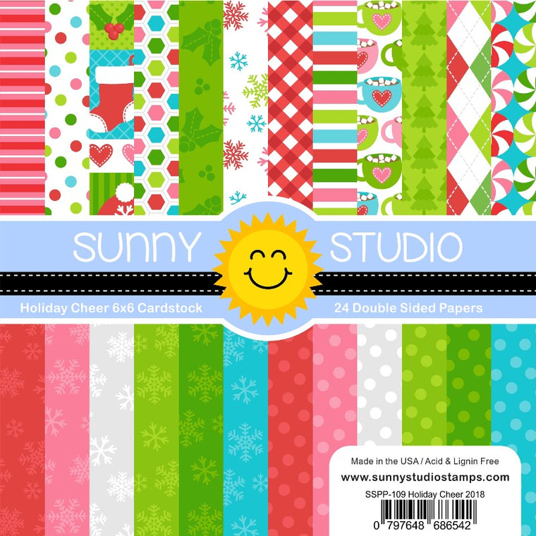 Sunny Studio Stamps Holiday Cheer 6x6 24-Sheet Double-sided Patterned Paper Pack