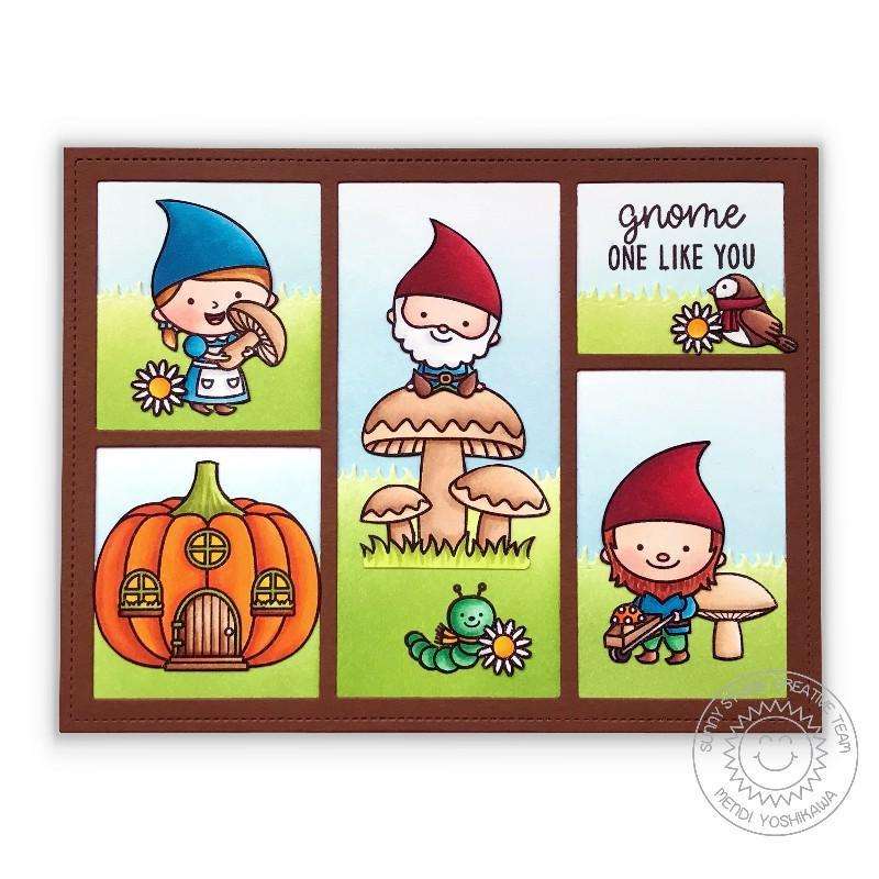 Sunny Studio Stamps Home Sweet Gnome Horizontal Comic Strip Style Card