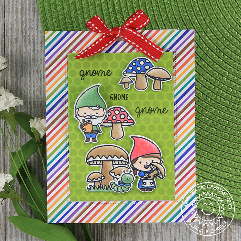 Sunny Studio Stamps Home Sweet Gnome Pop-up Card by Juliana Michaels