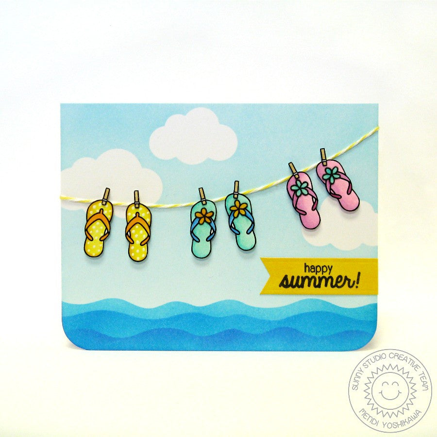 Sunny Studio Stamps Island Getaway Life Is Better In Flip Flops Card