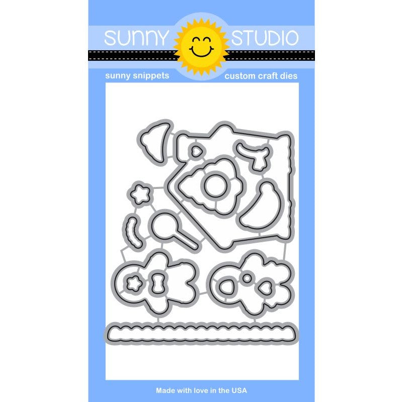 Sunny Studio Stamps Jolly Gingerbread Steel Rule Dies Set
