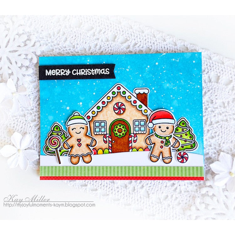 Sunny Studio Stamps Jolly Gingerbread Merry Christmas Card