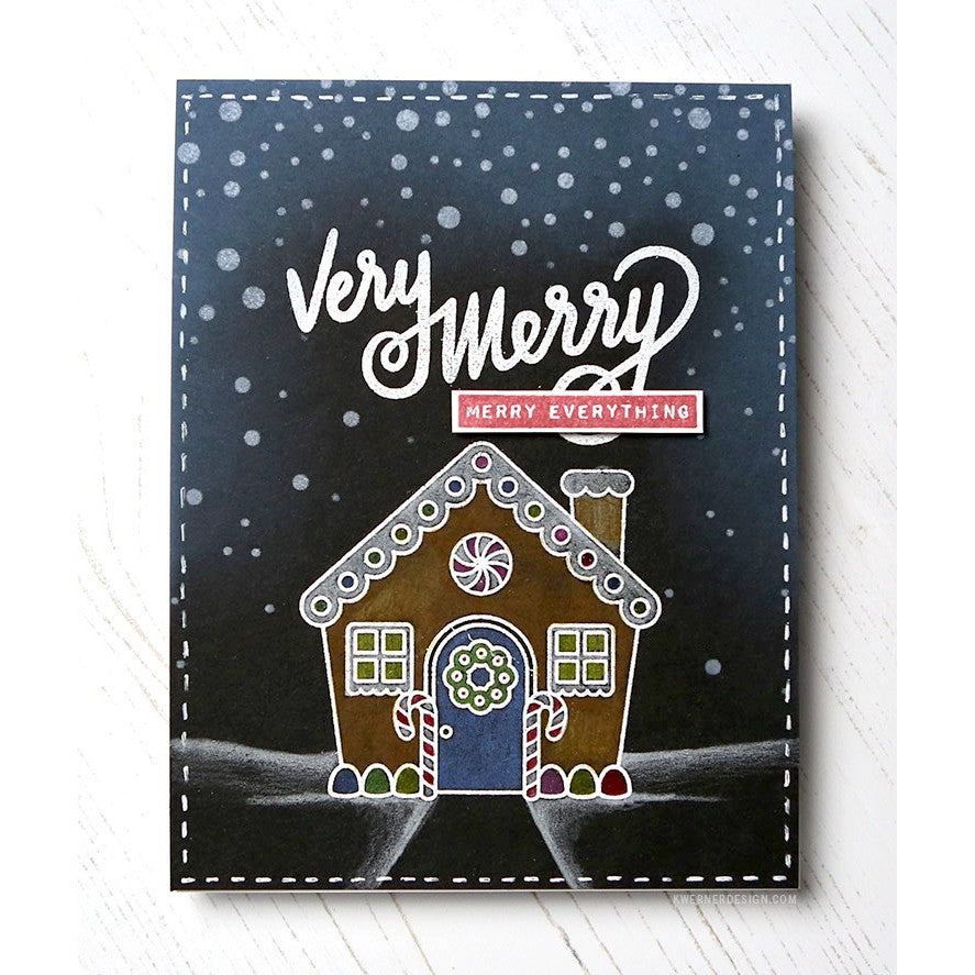 Sunny Studio Stamps Jolly Gingerbread House Christmas Card by Kristina Werner
