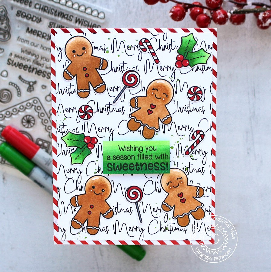 Sunny Studio Stamps Jolly Gingerbread Card by Vanessa Menhorn