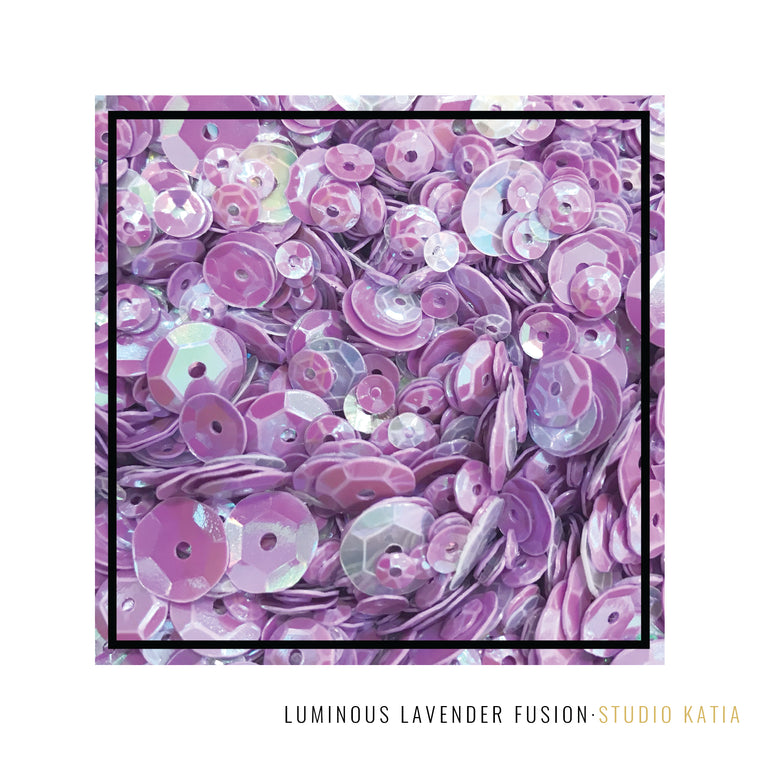 Studio Katia Luminous Lavender Purple iridescent Sequins