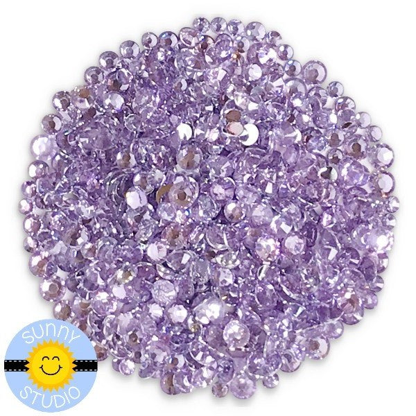 Sunny Studio Stamps Transparent Lavender Quartz Faux Jewels Rhinestones Crystals Gems- 3mm, 4mm & 5mm