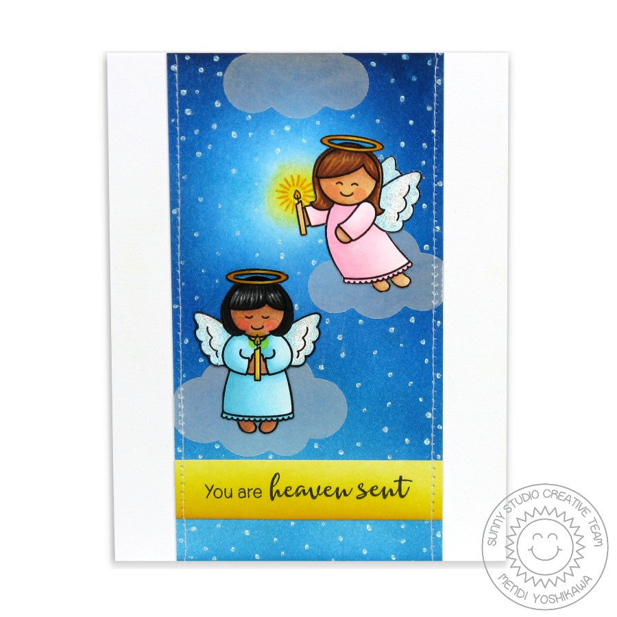 Sunny Studio Stamps Little Angels You Are Heaven Sent Card