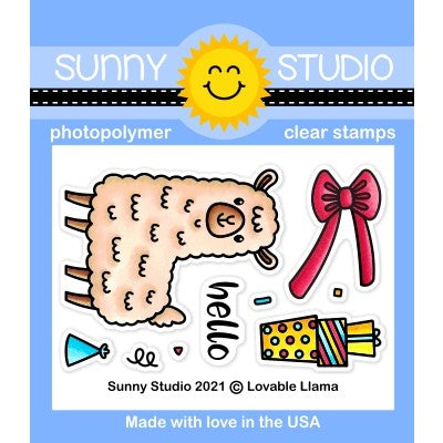 Sunny Studio Stamps Lovable Llama 2x3 Clear Photopolymer Mini Stamp Set