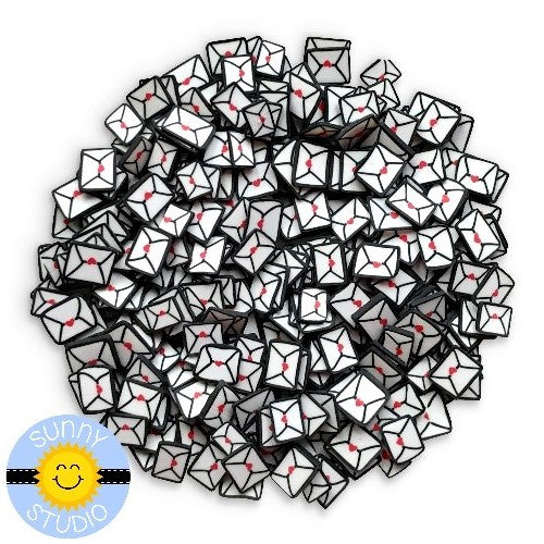 Sunny Studio Stamps Love Letter Clay Confetti Embellishments for shaker cards