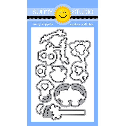 Sunny Studio Love Monkey Valentine's Low Profile Metal Cutting Die Set