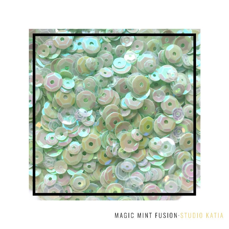 Studio Katia Magic Mint Green Fusion Iridescent Sequins Mix