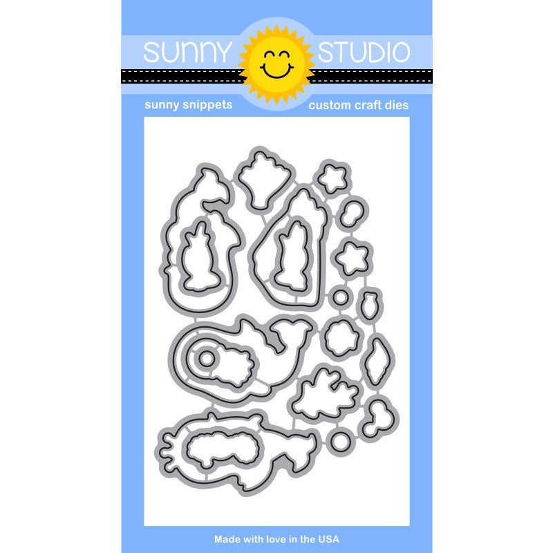 Sunny Studio Stamps Magical Mermaids Die Set