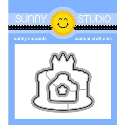 Sunny Studio Make A Wish Birthday Cake Low Profile Metal Cutting Dies