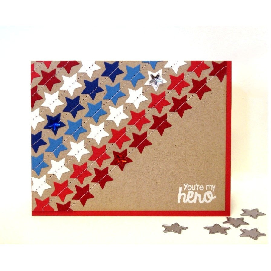 Sunny Studio Stamps Basic Mini Shape Dies Fourth of July Star Card