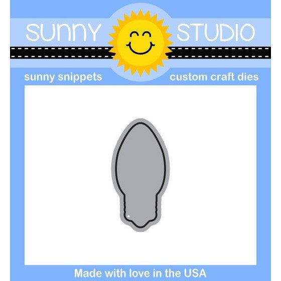 Sunny Studio Stamps Merry Sentiments Light Bulb Die