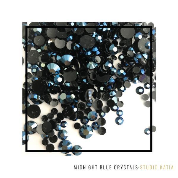 Studio Katia Midnight Blue Round Crystals in 3mm, 4mm, 5mm & 6mm