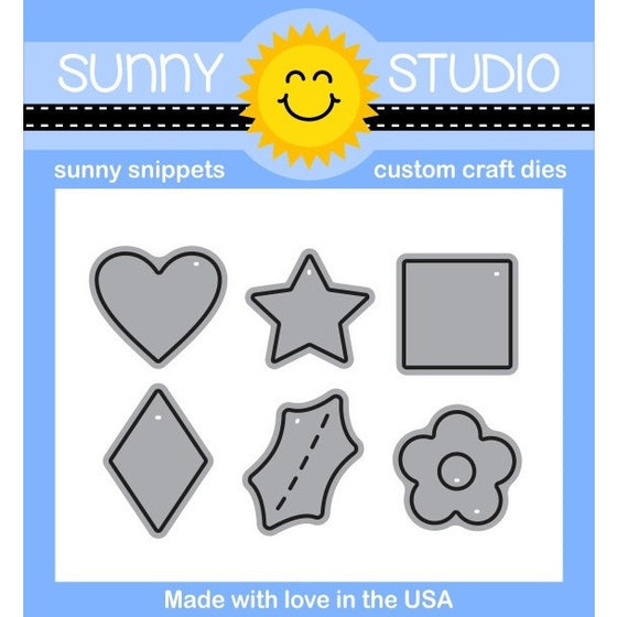 Sunny Studio Stamps Mini Basic Shape Dies (with heart, star, square, diamond, holly & flower)