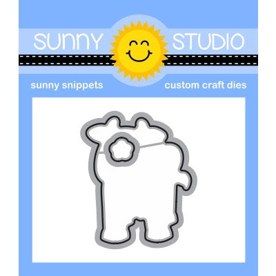 Sunny Studio Miss Moo Cow Low Profile Metal Cutting Die Set