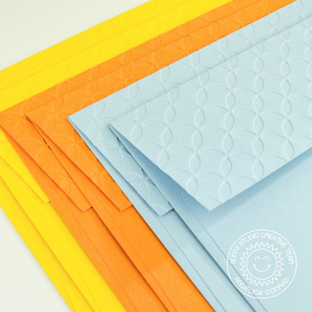 Sunny Studio Stamps Embossed Envelope Set by Angelica (using Moroccan