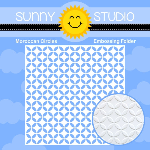 Sunny Studio Stamps Moroccan Circles 6x6 Embossing Folder