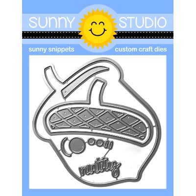 Sunny Studio Stamps Nutty For You Layered Acorn Metal Cutting Die Set