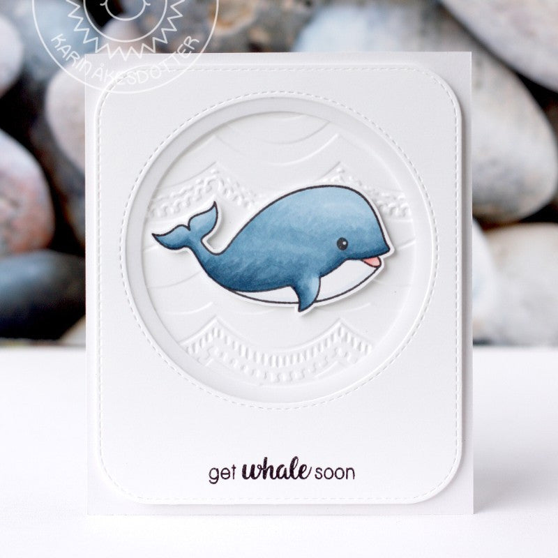 Sunny Studio Oceans of Joy Get Whale Soon Clean & Simple Card