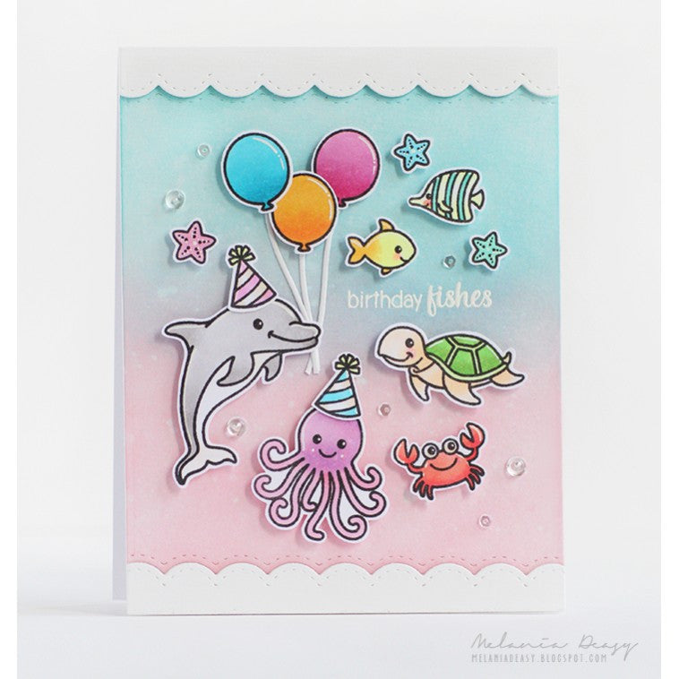 Sunny Studio Stamps Oceans of Joy Birthday Party Card