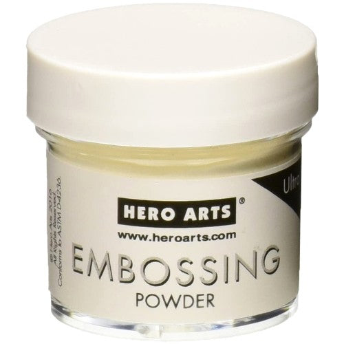 Hero Arts Ultra Fine CLEAR Embossing Powder - 1 oz. ounce Jar PW111