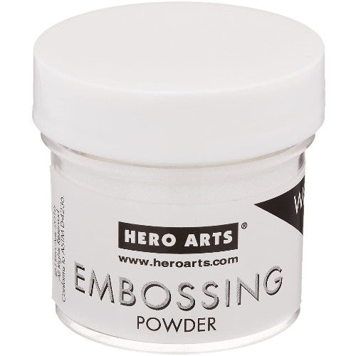 Hero Arts White Detail Opaque Embossing Powder - 1 oz. ounce Jar PW122 Extra Fine