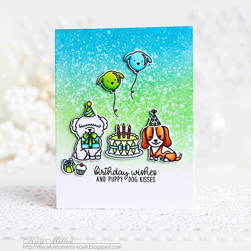 Sunny Studio Stamps Party Pups Dog Birthday Card by Kay Miller